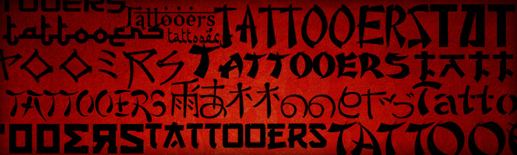 asian tattoo fonts