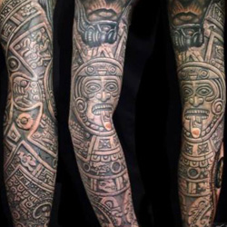 aztec Sleeve Tattoo