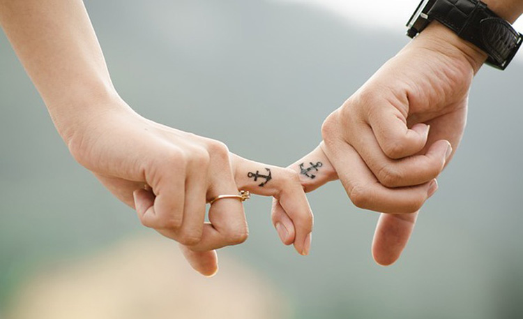 Couple tattoo: anchor