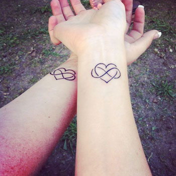 Matching Hearts Tattoos