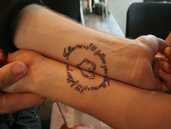 Text Couple Tattoo