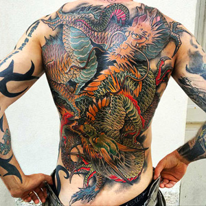dragon tattoo colors
