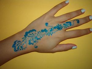 gel pen tattoo
