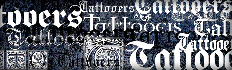 gothic tattoo fonts