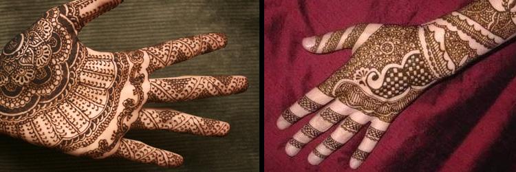 tatuagem de henna nas mãos