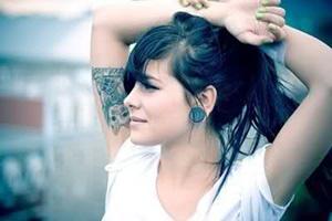 inner bicep tattoo