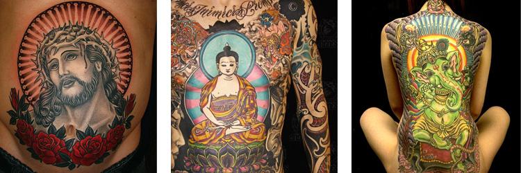 Religiöse Tattoos