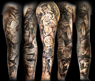 Sleeve Religious Tattoos