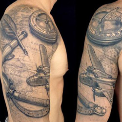 travel Sleeve Tattoo