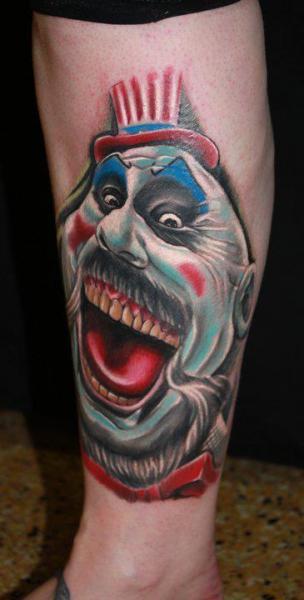 Fantasy Leg Clown Tattoo By Cake Happy Tattoo