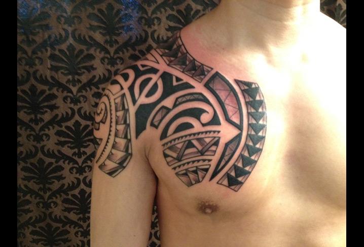 schulter tribal maori tattoo von artwork rebels. Black Bedroom Furniture Sets. Home Design Ideas