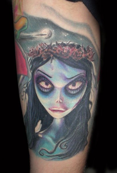 arm fantasy tim burton tattoo by bloody blue tattoo. Black Bedroom Furniture Sets. Home Design Ideas