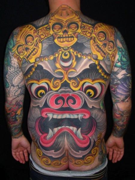 Japanese Back Demon Tattoo By Guru Tattoo