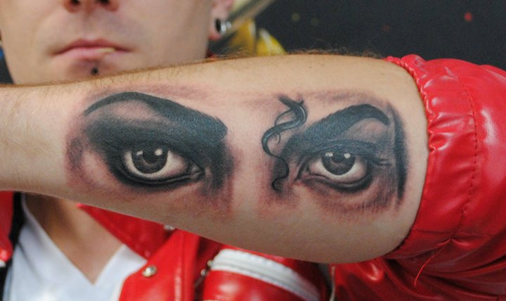 Arm Realistic Eye Michael Jackson Tattoo by Industry Tattoo