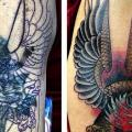Shoulder Old School Eagle Cover-up tattoo by Inkd Chronicles