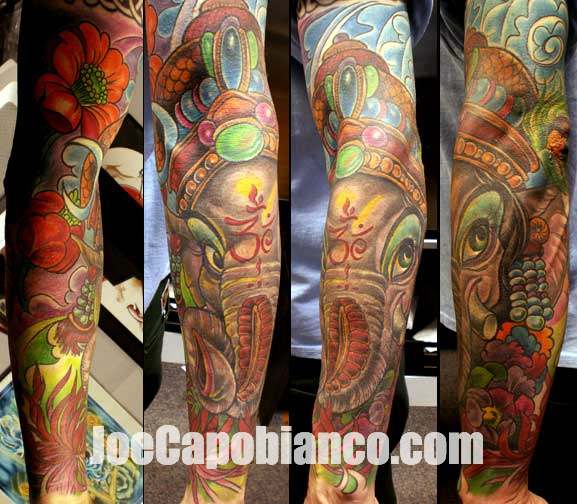 arm ganesh tattoo by joe capobianco. Black Bedroom Furniture Sets. Home Design Ideas