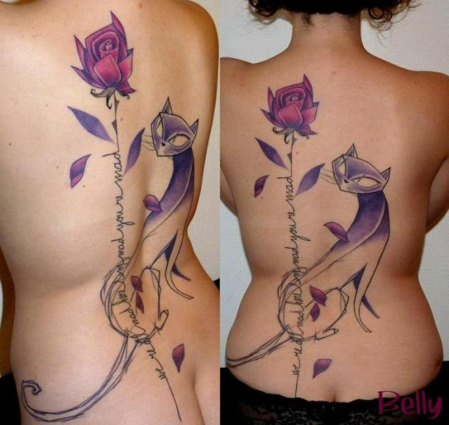 Image result for cat tattoo in belly button
