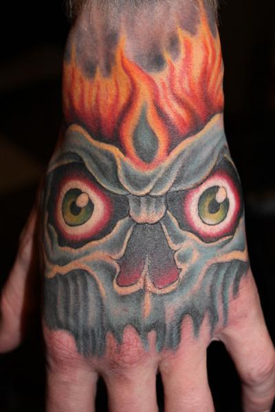 hand demon tattoo by lone wolf tattoo. Black Bedroom Furniture Sets. Home Design Ideas