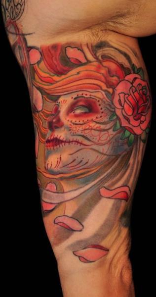 arm mexikanischer totenkopf tattoo von matthew hamlet tattoo. Black Bedroom Furniture Sets. Home Design Ideas