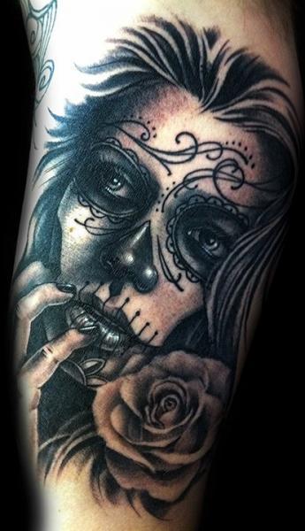 mexikanischer totenkopf tattoo von club tattoo. Black Bedroom Furniture Sets. Home Design Ideas