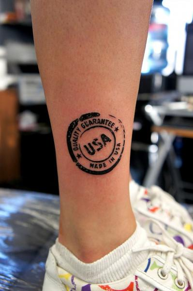 Tatouage Jambe Usa Logo par Og Tattoo