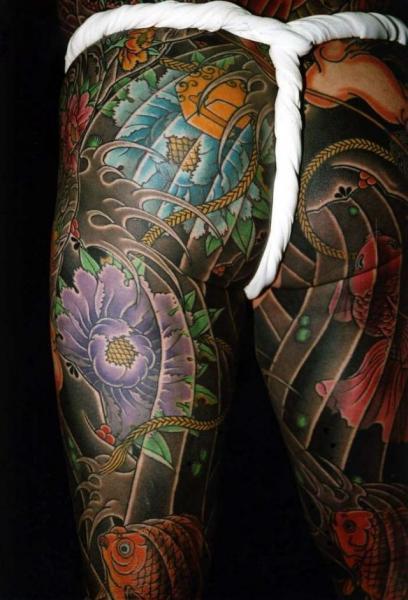 Leg Japanese Back Butt Body Tattoo by Horiyasu Tattoo