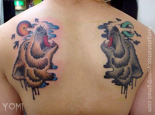 Back Wolf Tattoo by Last Gate Tattoo