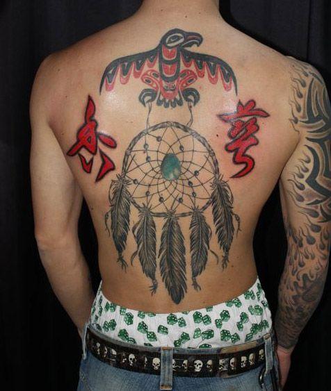 Tatuaje Espalda Atrapasueños por South Dragon Tattoo