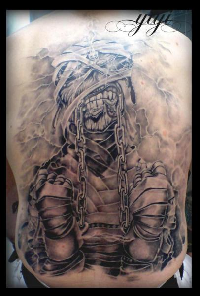 back iron maiden tattoo by inkfierno tattoo. Black Bedroom Furniture Sets. Home Design Ideas
