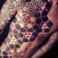 Dotwork Geometric Body tattoo by Nazareno Tubaro