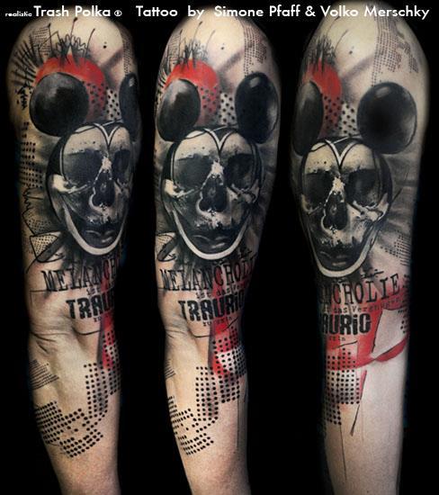 Arm Mickey Mouse Tattoo by Buena Vista Tattoo Club