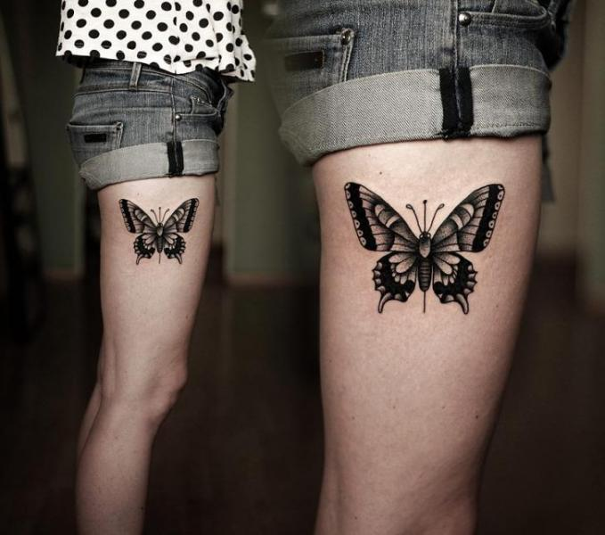 679 x 600 · 47 kB · jpeg, Butterfly Tattoos On Thigh