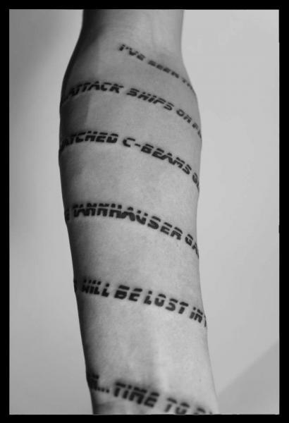 Super Braccio Scritte Caratteri di Four Roses Tattoo NQ53