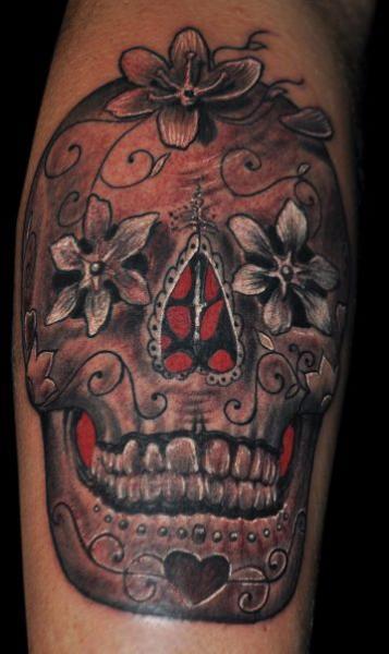 totenkopf tattoo von miguel ramos tattoos. Black Bedroom Furniture Sets. Home Design Ideas