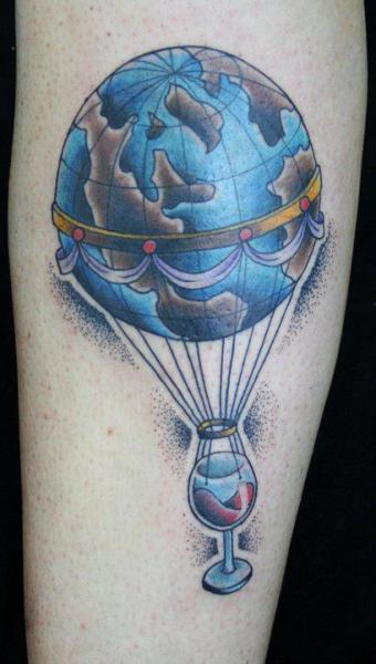 Arm Fantasy Balloon World Tattoo by Bonic Cadaver