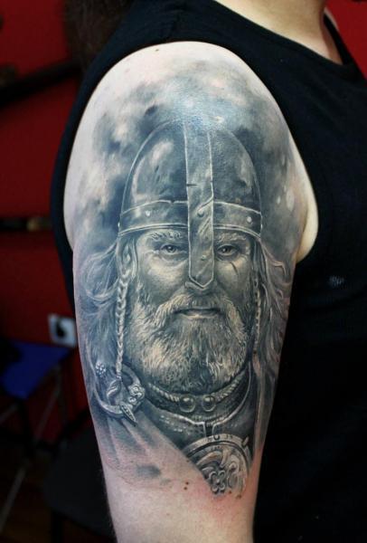 tatouage paule r aliste viking par tattoo x. Black Bedroom Furniture Sets. Home Design Ideas
