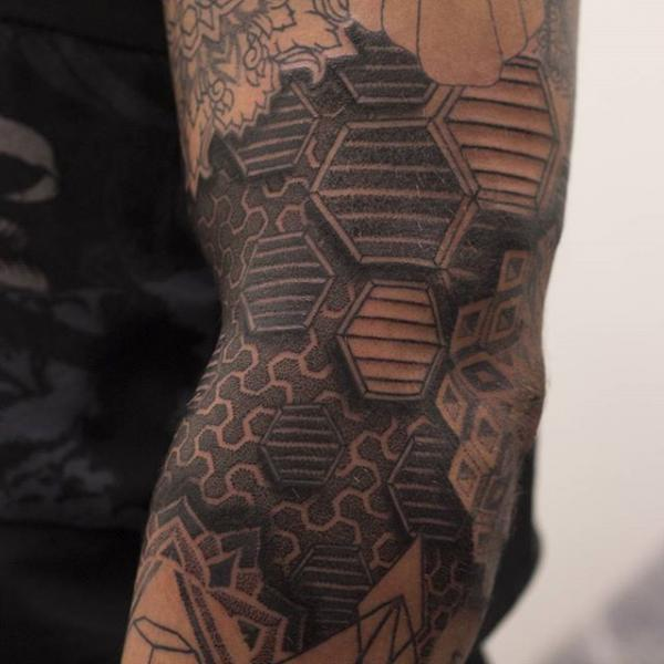 Dotwork Abstract Tattoo by Nemesis Tattoo