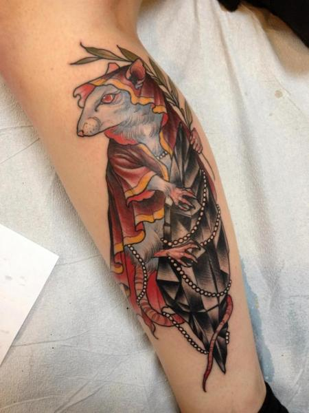Calf Mouse Diamond Tattoo By Scapegoat Tattoo