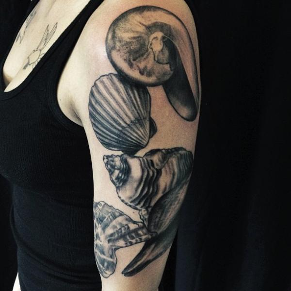 Arm Shell Tattoo By Allen Tattoo