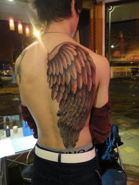 Full Back Angel Tattoo Designs
