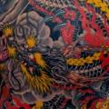 Japanese Back Dragon tattoo by Rand Family Tattoo