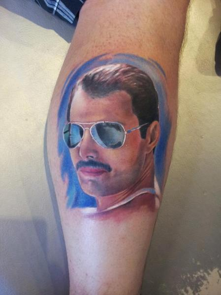 Arm Realistic Freddie Mercury Tattoo By Rock Ink