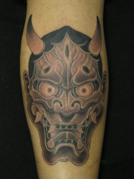 Arm Japanese Demon Tattoo by Mao and Cathy