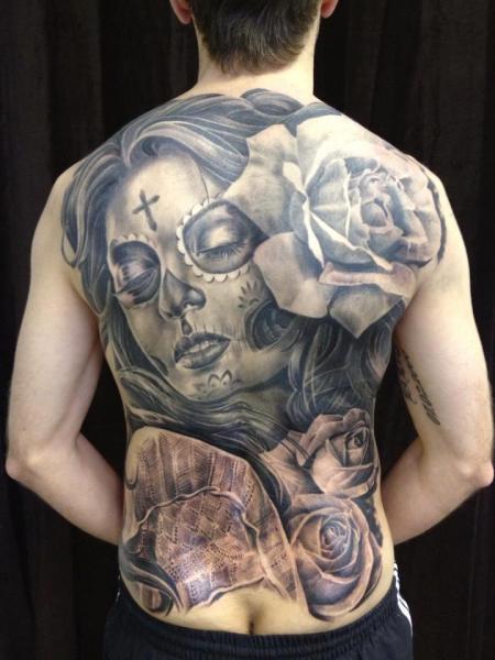 tatouage cr ne mexicain retour par mia tattoo. Black Bedroom Furniture Sets. Home Design Ideas