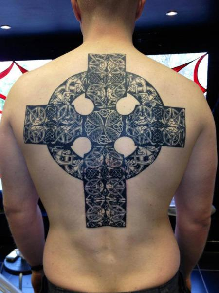 Back Crux Celtic Tattoo by North Side Tattooz