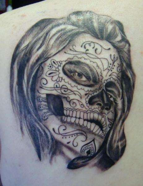 Tatouage paule cr ne mexicain par north side tattooz - Tattoo crane mexicain ...