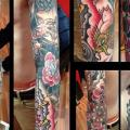 Old School Sleeve tattoo by Mikael de Poissy
