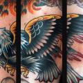 Old School Eagle tattoo by Jim Sylvia