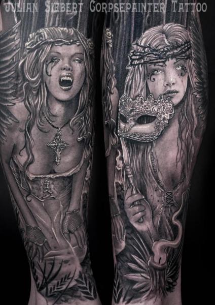 tatuagem fantasia mulher vampiro por corpse painter. Black Bedroom Furniture Sets. Home Design Ideas