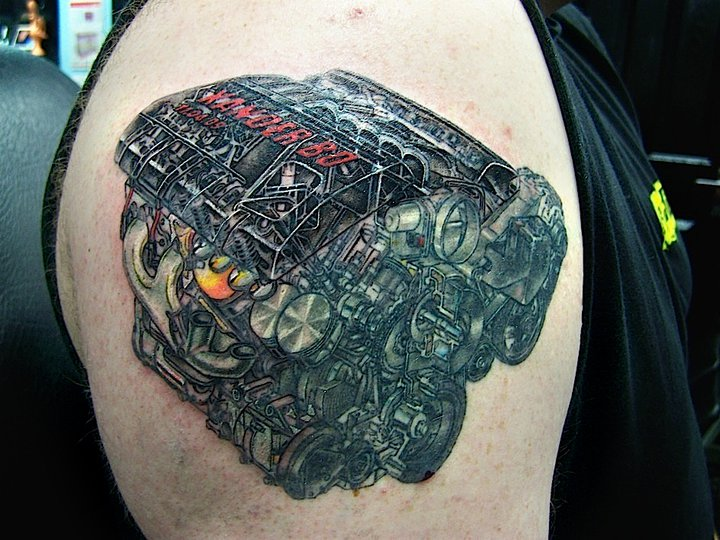 Car Engine Tattoo Designs